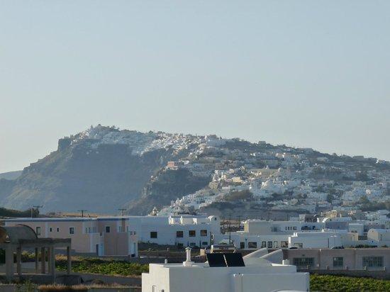 Santorini Mesotopos: Vue de l'hôtel