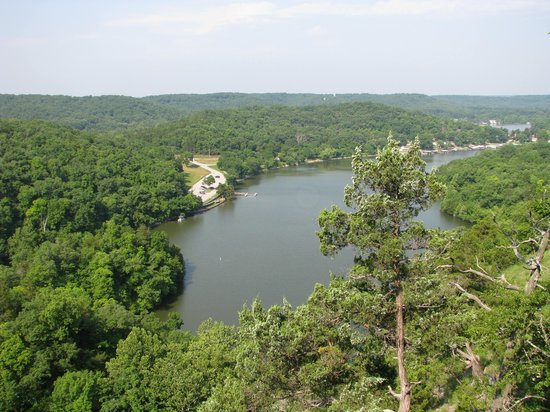 Ha Ha Tonka State Park: View from atop castle trail