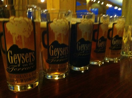 The Terrace Restaurant & Bar: first Geyser beers on tap