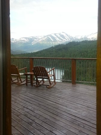 Kenai Princess Wilderness Lodge: View from our table in dining room.  Doesn't get much better.