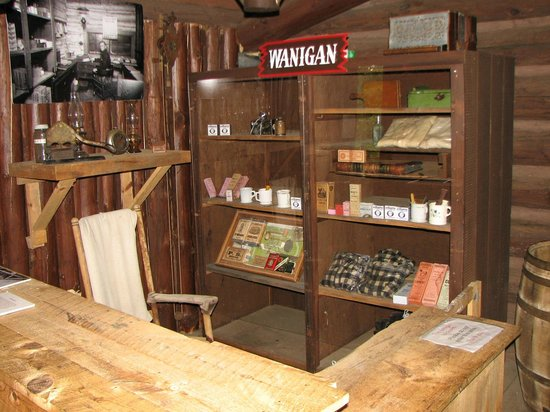 Paul Bunyan Logging Camp Museum: The Wanigan inside the Bunkhouse