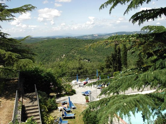Villa Sant'Uberto Country Inn: Blick auf den Pool