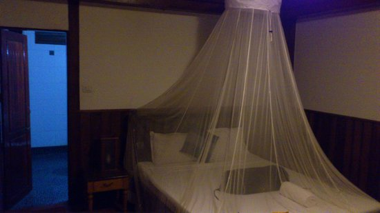 Blue Water Beach Resort: my room, with mind assuring mosquito net
