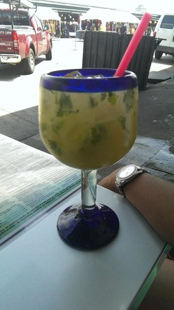 El Gato Negro Mexican Restaurant: Pineapple, Cilantro, & Lime Margarita