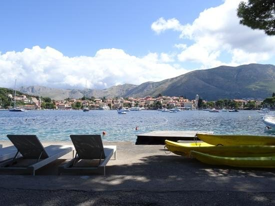 View from Hotel Croatia bay level sunbathing area