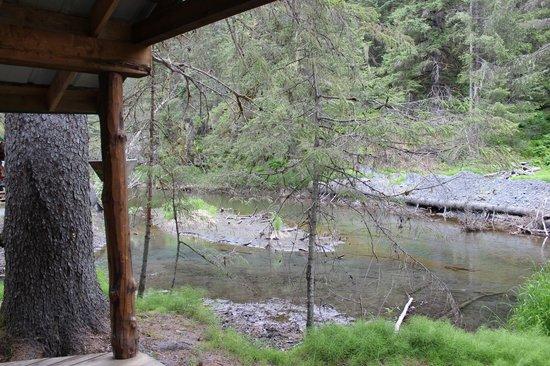 阿拉斯加溪畔小屋照片