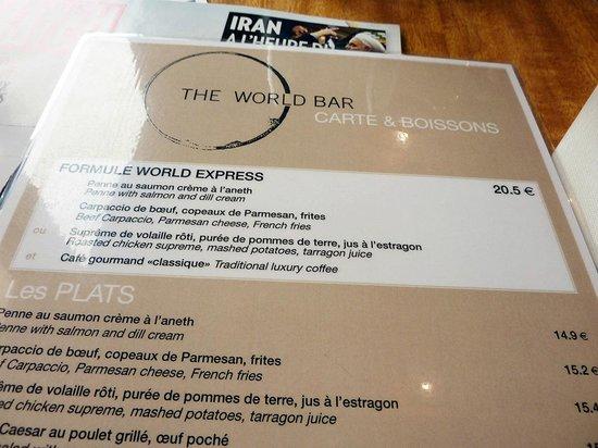 World Bar: LA FORMULE