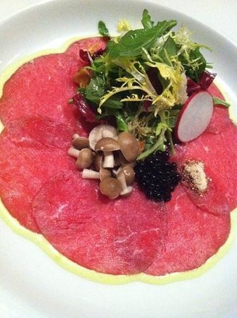 The Common Man: New England Family Farms beef carpaccio