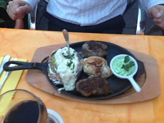 Mike's EKU Steakhouse: Aussie Trio: croc, ostrich, kangaru