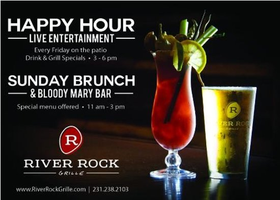 River Rock Grille: Happy Hour and Sunday Brunch
