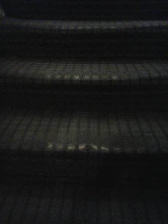 Kensington Rooms: Threadbare stair carpet