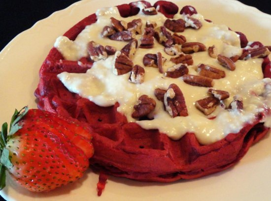 Pink Cadillac Diner : Strawberry Waflle