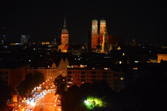 Night View from Room at Holiday Inn Munich - City Centre