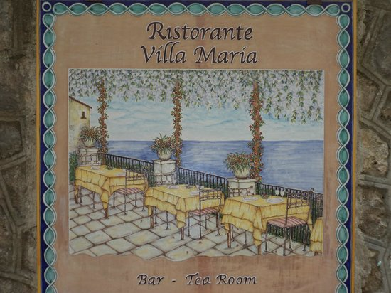 Villa Maria Restaurant: Stop here when you see this