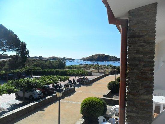 Hotel Calina : vue depuis la terrasse de la chambre