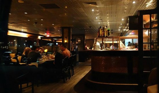 Rue Noir Steakhouse: Raw Bar and Dining Area