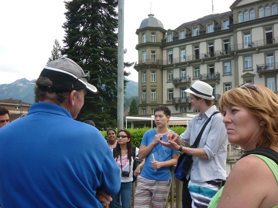 Interlaken Walking Tours: Victor enchanting us with his love for his city