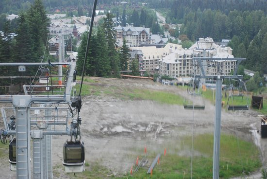 The Listel Hotel Whistler : De gondola naar de top van de berg