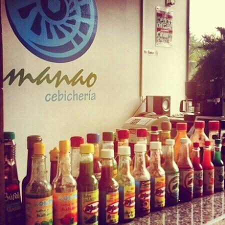 Manao Cebicheria: por si tienes antojo de alguna salsa...