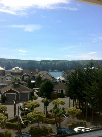 The Resort at Port Ludlow: Part of the view from room #309