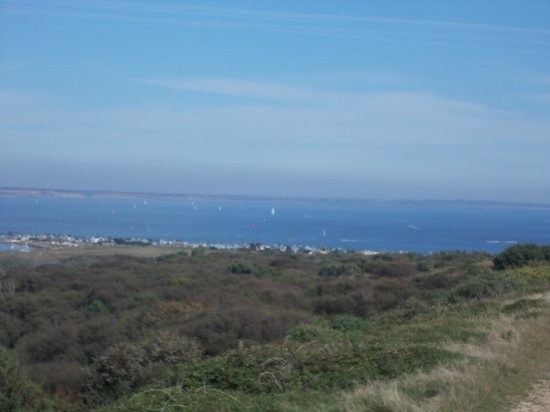 Hengistbury Head : View into Bournmouth from top of Head