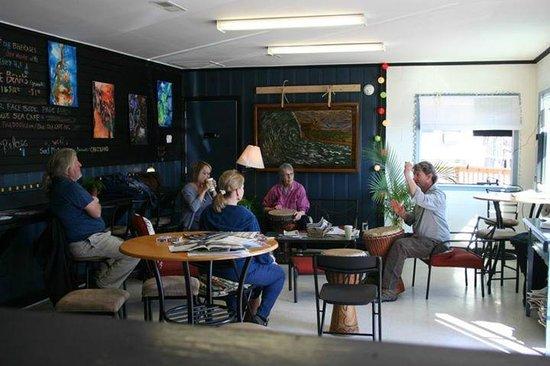 Blue Sea Coffee Shop: Funky cozy interior
