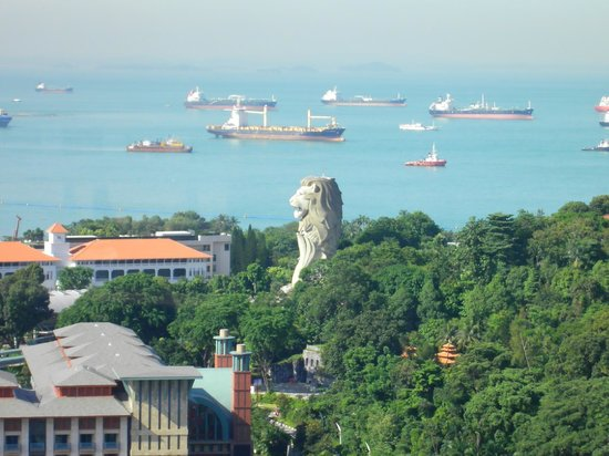 Resorts World Sentosa - Festive Hotel: View from cable car, Sentosa Island