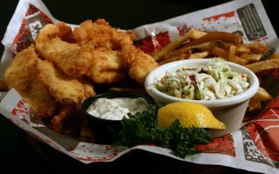 Fish and chips picture of kickback jack 39 s raleigh for Best place for fish and chips near me