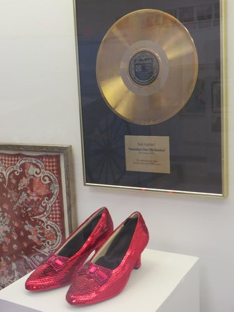 Judy Garland Museum: Ruby slippers (facsimile) Gold Record