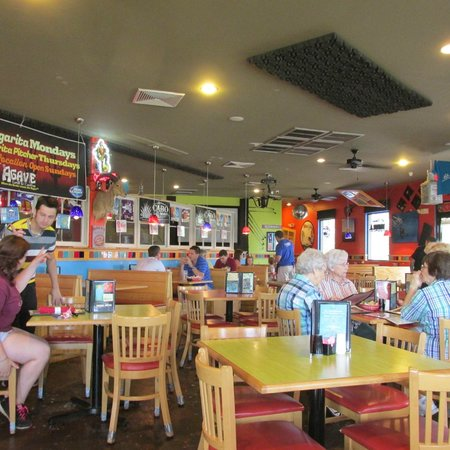 Agave Cantina: Main portion of inside seating area of Bertrand location