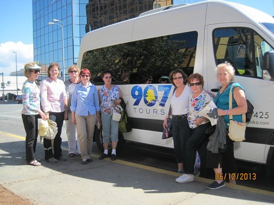 907 Tours: Anchorage - Day Tours: Our group with Susan and the 907 Van