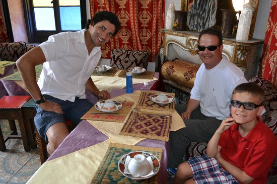 Alhambra Travel - Red Label Experience: Lunch in Tangiers...Pablo, myself, my son Joey.