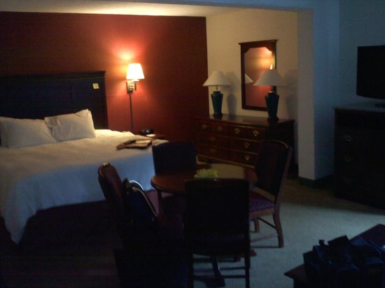 Hampton Inn Jonesville/Elkin: Kind of a dark, lousy shot, but gives a little idea of the room
