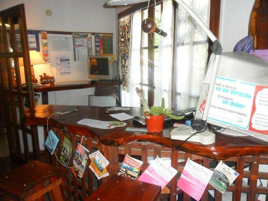 La Casa del Árbol  Hostel El Bolson: Recepción