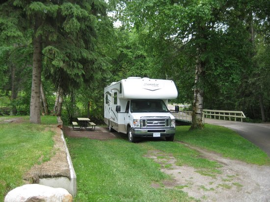Our Campsite Picture Of Canyon Rv Resort Radium Hot