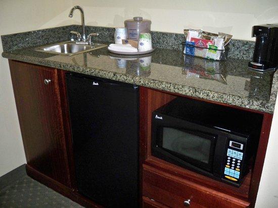 Hampton Inn & Suites Denver Littleton: The extra sink, fridge, and microwave in the room