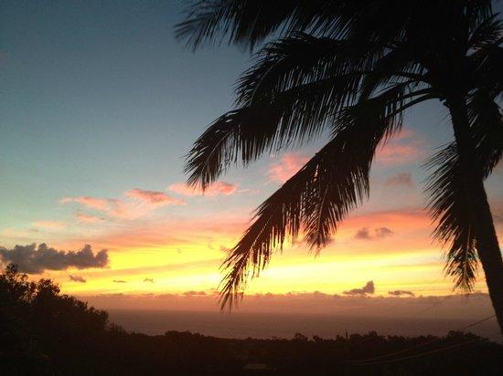 Puakea Ranch: first sunset