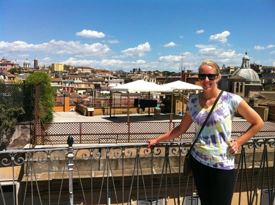 Casa Il Rosario: roof terrace with amazing view of Rome