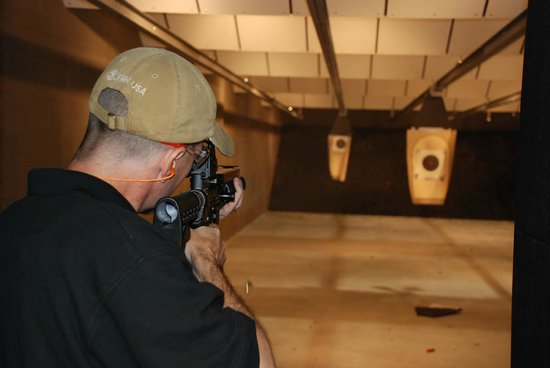 Stone Hart's Gun Club & Indoor Range: Rifles and Pistols are allowed.