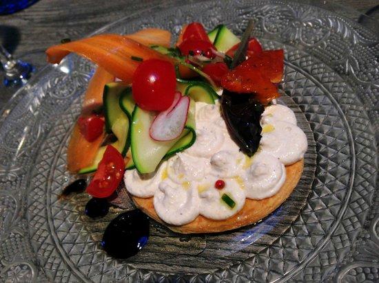 L'Alcove: Tarte fine de brandade de morue (salt cod brandade) - like heaven