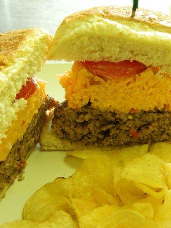 The Perfect Pear : The Pimento Burger (local, farm-raised beef!!)