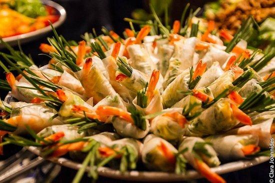 Jibe's Beach Club : fresh Shrimp rolls