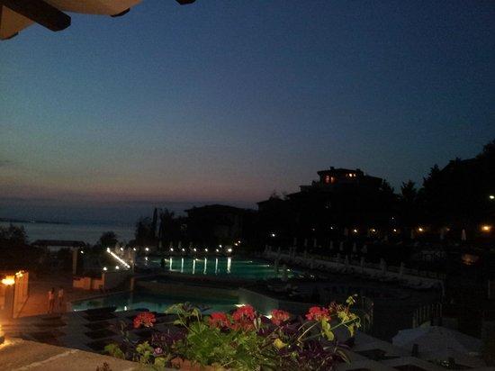 Santa Marina Holiday Village : Beach view from Apollonia restaurant