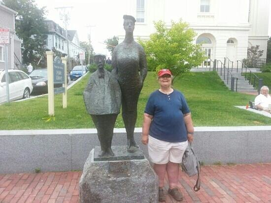 Provincetown Library: in front of the library
