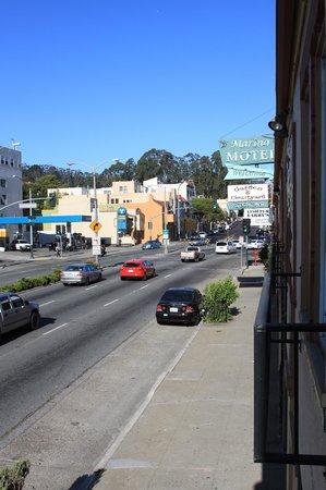 Marina Motel : Lombard street view