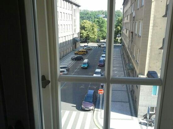 Hotel Clement Prague: view from our room looking towards the river
