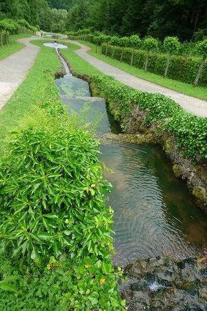 Hermitage Castle (Altes Schloss Ermitage): les jeux d'eau