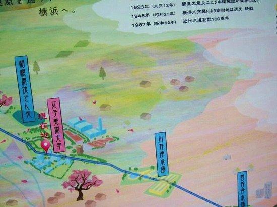 Yokohama Suidomichi Ryokudo: 横浜水道みち・・・ルートサイン3