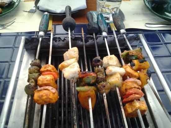 Barbeque Nation: barbeque on table