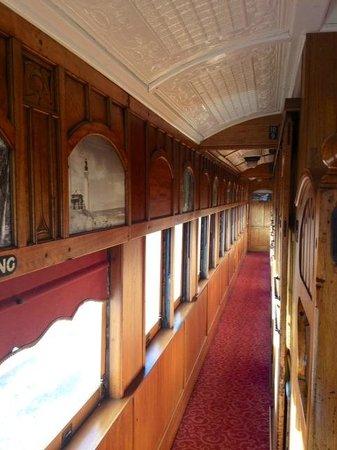 Victorian Goldfields Railway: First class carriage
